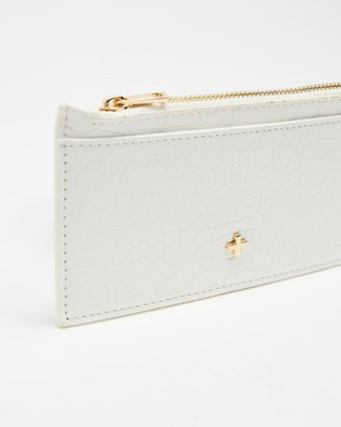 PETA AND JAIN Marley Slim Wallet - Wallets (White Croc)