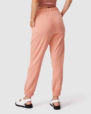 Cotton On High Waist Track Pants Sweatpants Rose Cloud High-Waist