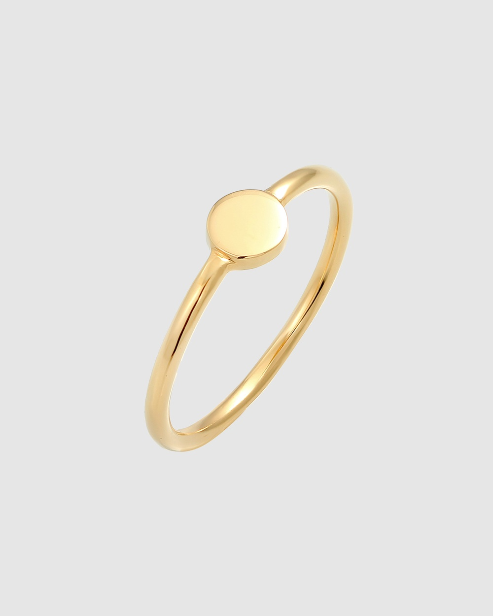 Elli Jewelry Ring Stacking Trend Platelet Basic in 925 Sterling Silver Gold Plated Jewellery Gold