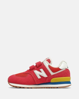 New Balance 574 Standard Fit Kids Performance Shoes Team Red