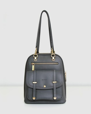 Belle & Bloom 5th Ave Leather Backpack - Backpacks (Grey)