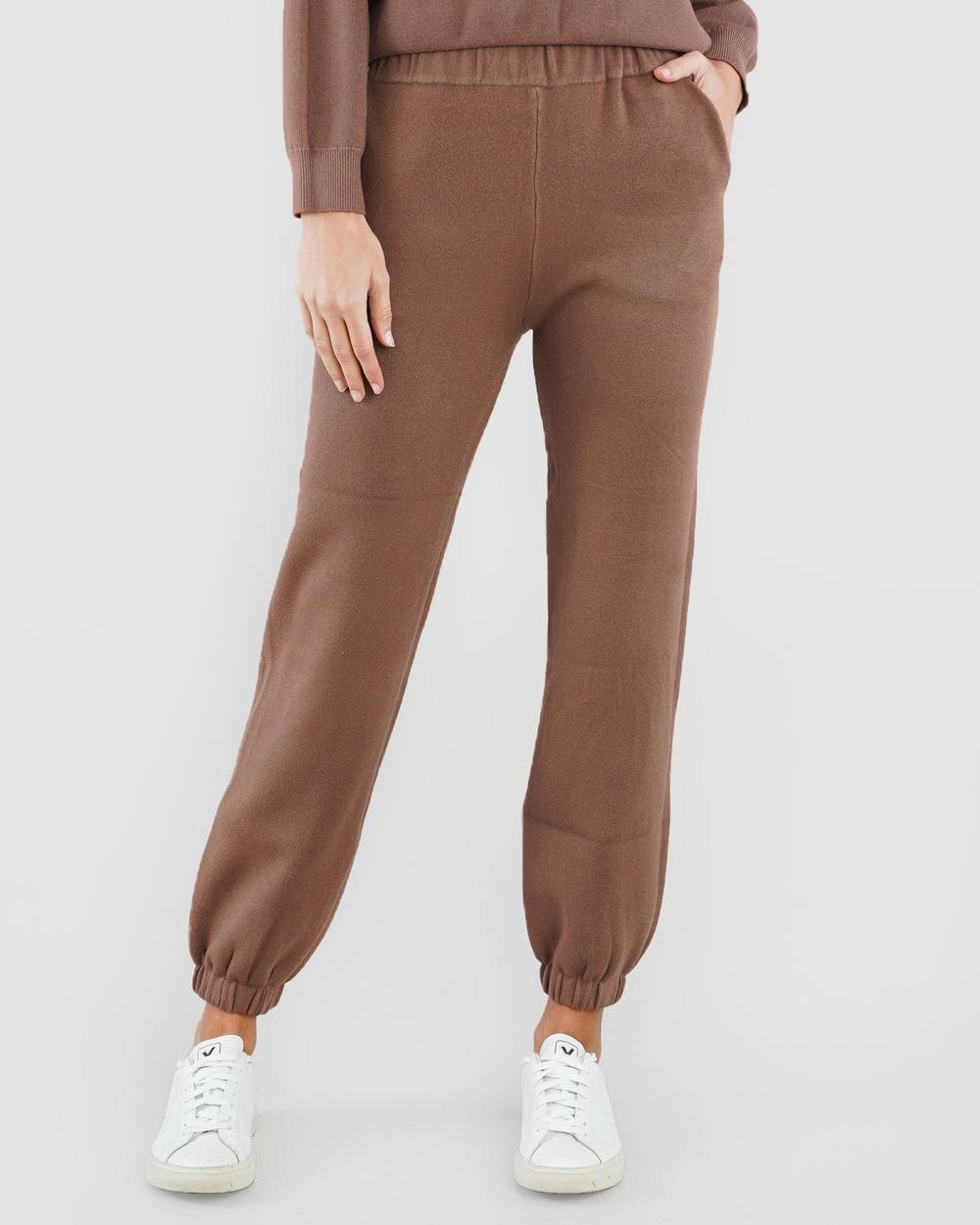 Amelius Titan Knit Jogger Sweatpants Cocoa