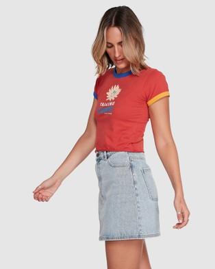 RVCA Siena Tradie Blues Skirt - Skirts (TRADIE BLUE)