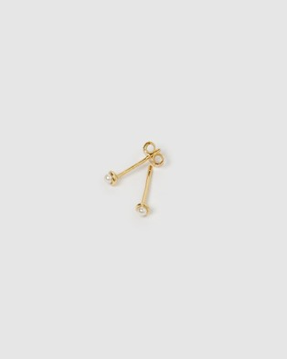 Arms Of Eve Jaynie Gold & Pearl Studs Jewellery Gold
