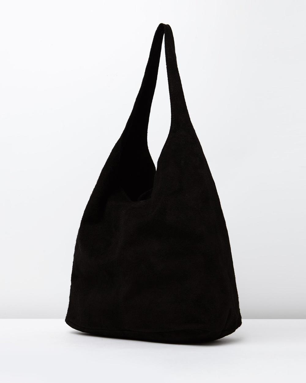 Marlafiji Wendy Suede Hobo Bags Black