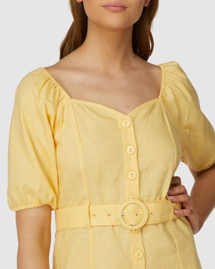 Princess Highway Magnolia Dress - Dresses (Yellow)