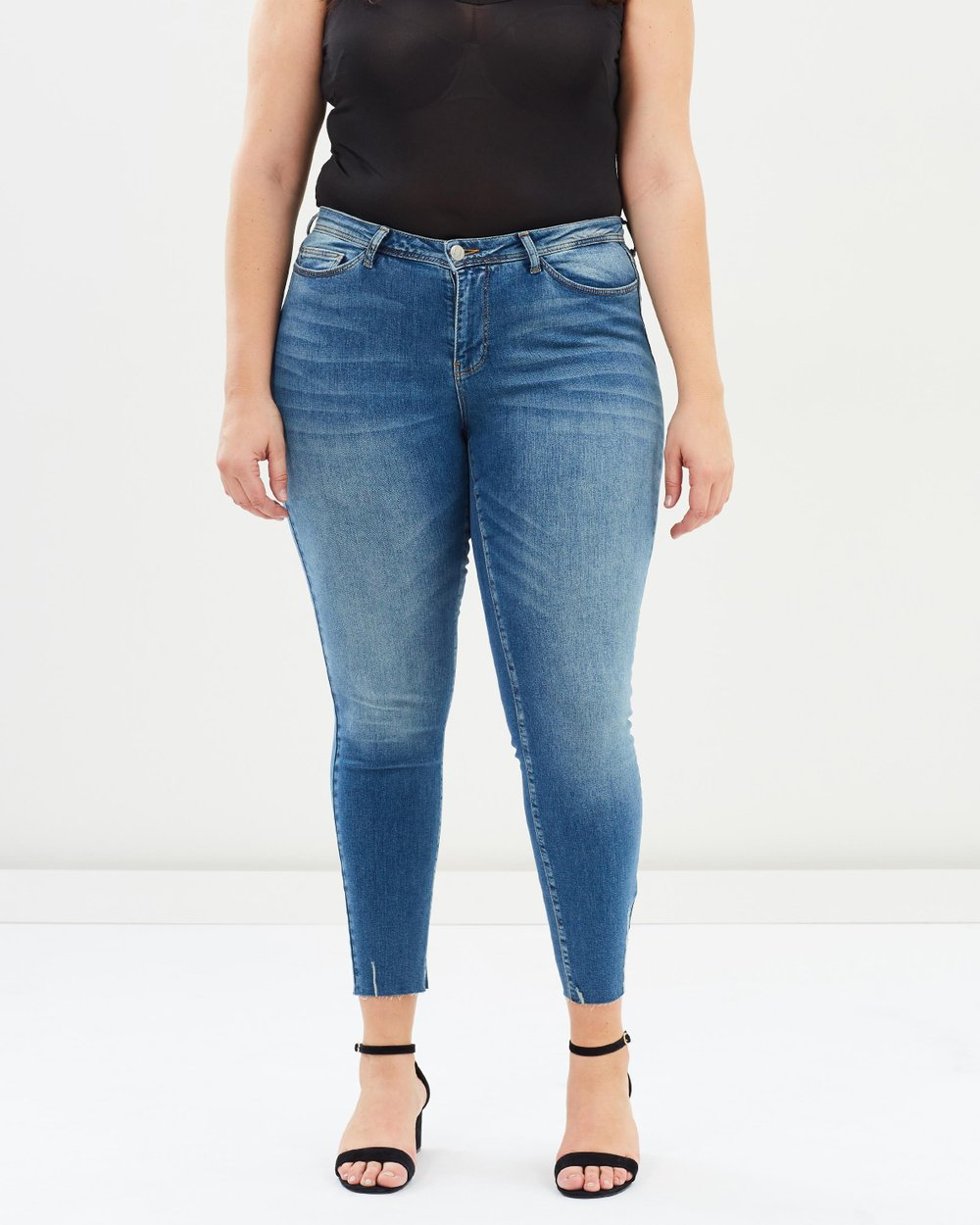 Five Pocket Normal Waist Slim Ankle Jeans by JUNAROSE Online   THE ICONIC    Australia 1385862bb7