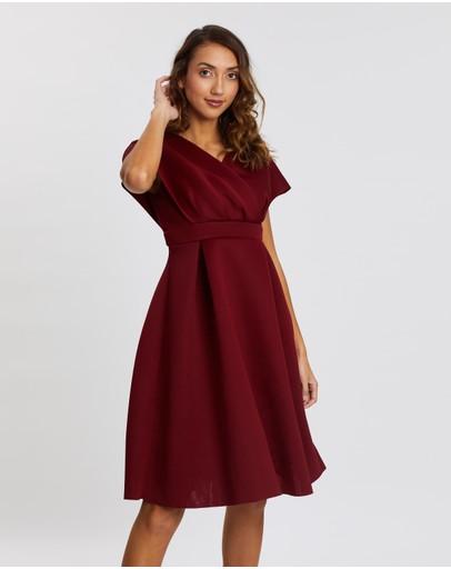 Chi London Leyann Dress Burgundy