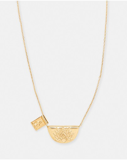 By Charlotte - Lotus Little Buddha Long Necklace