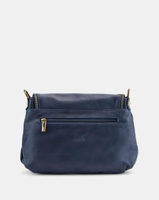 BEE Vasarino Jeans Crossbody Leather Bag - Handbags (Jeans)
