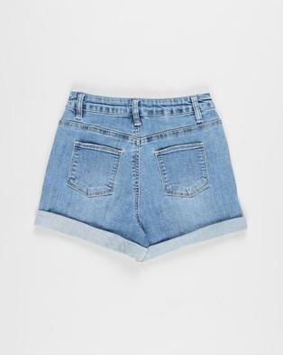 Free by Cotton On Camie Denim Shorts   Teens - Denim (Weekend Wash)