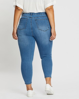 Cotton On Curve Adriana High Skinny Jeans - High-Waisted (Boston Blue)