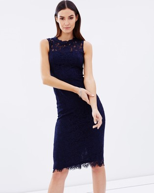 Atmos & Here – Ferreira Lace Dress – Bodycon Dresses (Navy)