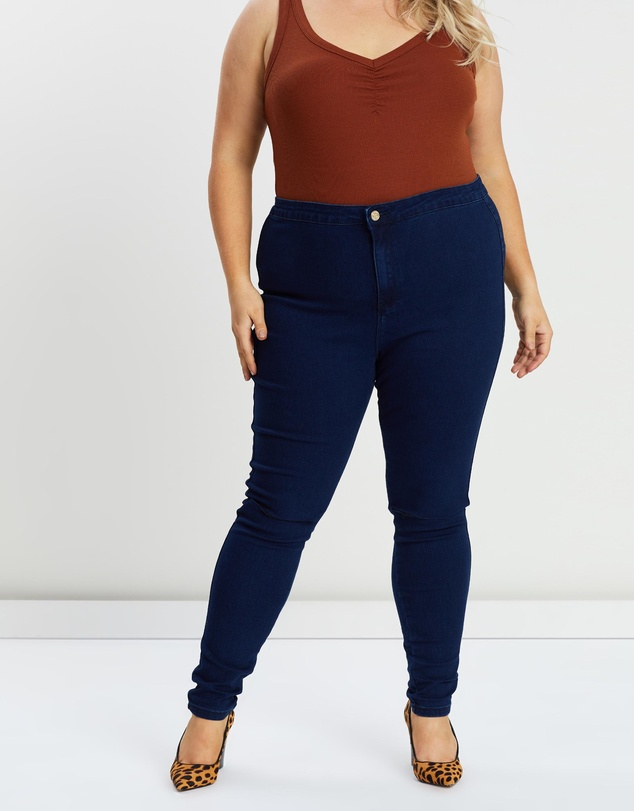 Missguided Curve - Skinny Rip Jeggings