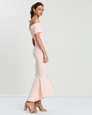 Loreta Avenue Scuba Dress - Bridesmaid Dresses (Blush)