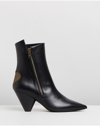Heart Pointed Cone Heel Boots