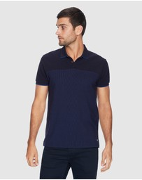 yd. - Fashion Spliced Polo