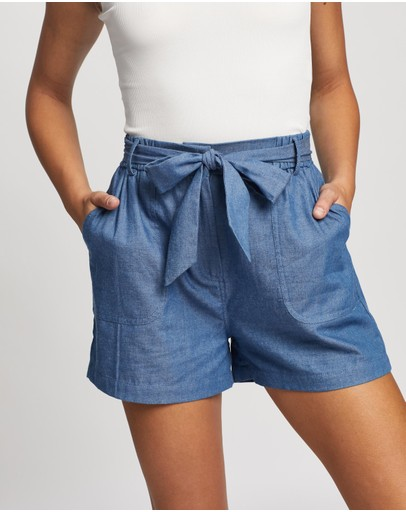 Atmos&Here - Eimear Chambray Shorts