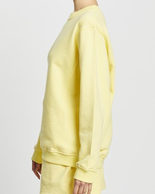 Dazie - Keep It Up Sweat Top Sweats (Yellow)