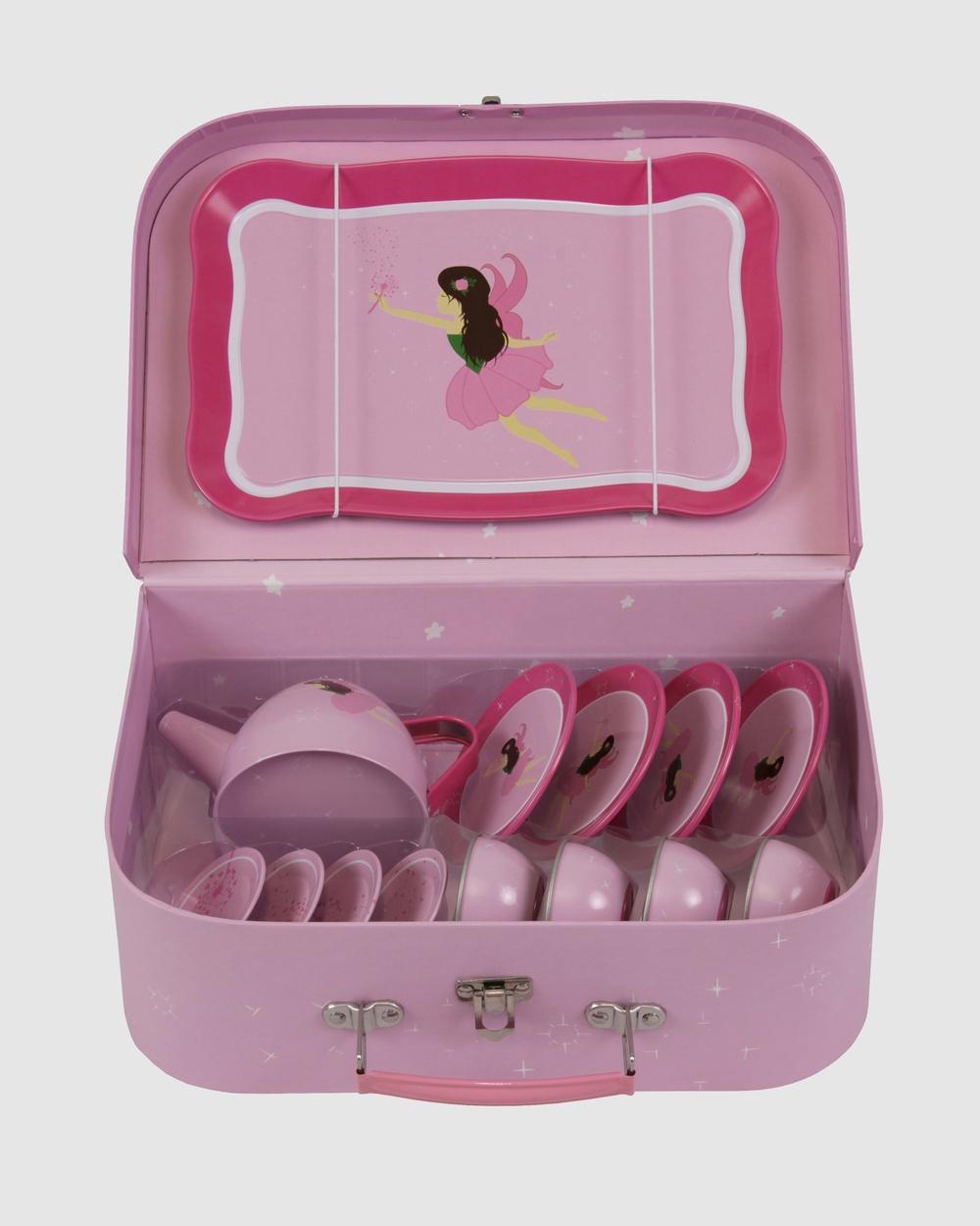 Bobbleart Tea Set Fairy Novelty Gifts Light Pink