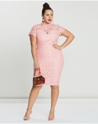 Missguided Curve - Cap Sleeve Lace Midi Dress