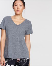 Running Bare - Timeless V-Neck Lounge Tee