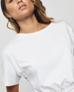 Atmos&Here Suri Elastic Waist Tee - Cropped tops (White)