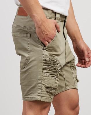 Nena & Pasadena Hellcat Denim Shorts - Denim (Sage)