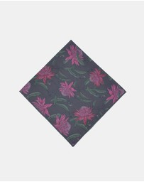 Peggy and Finn - Waratah Pocket Square