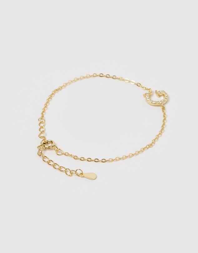 Women Crystal Letter G Bracelet