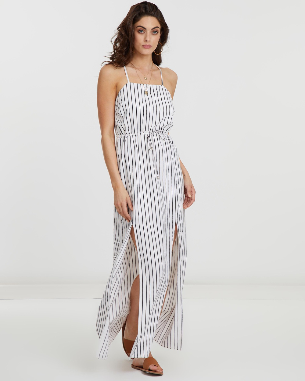 Atmos & Here Stripe ICONIC EXCLUSIVE – Selina Stripe Maxi Dress