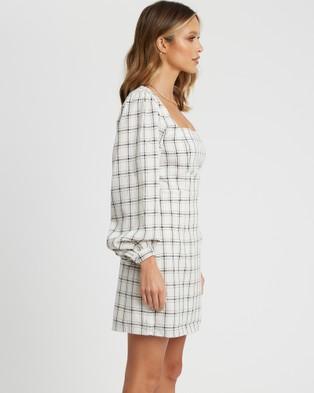 The Fated - Brielle Mini Dress - Dresses (White Base Check) Brielle Mini Dress