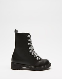 Cotton On Kids - Classic Combat Boots - Kids-Teens