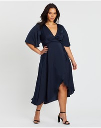 Atmos&Here Curvy - Ursula Wrap Midi Dress