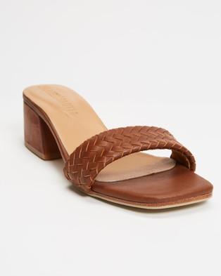 JAMES   SMITH Roma Midi - Mid-low heels (Brown Vintage Leather)