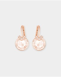 Swarovski - Bella V Rose Gold Earrings with Pink Swarovski Crystals