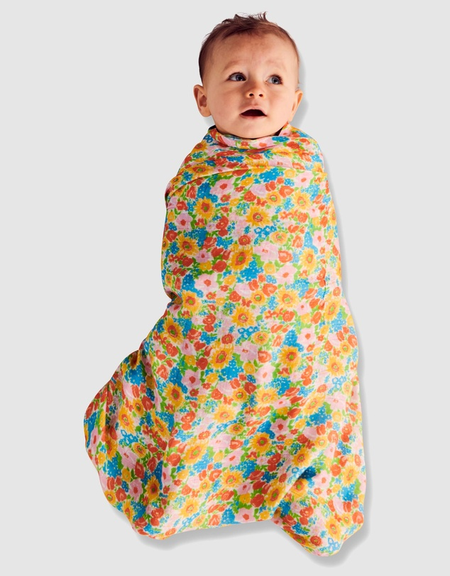 Kids Spring Pollen Bamboo Swaddle - Babies