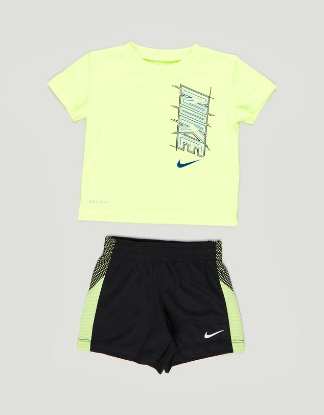 Kids Dri-FIT Block Tee & Shorts Set - Babies