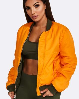 Nicky Kay Reversible Bomber Jacket - Coats & Jackets (Khaki)