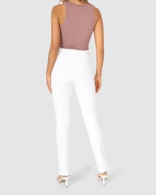 Madison The Label Henley Zip Pants - Sweatpants (White)