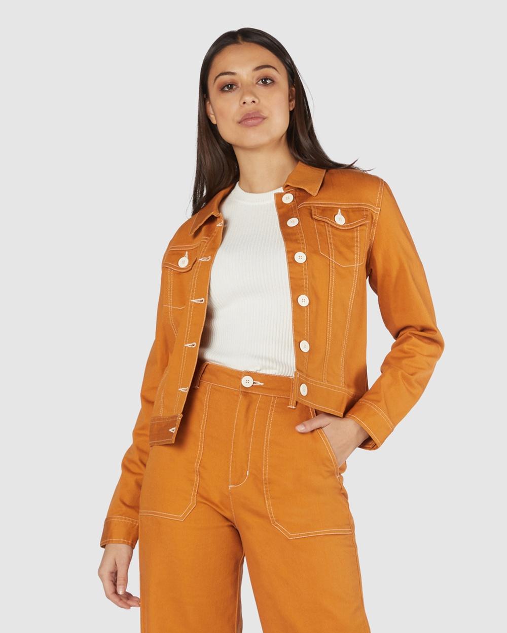 Princess Highway Angie Drill Jacket Denim jacket Gold Australia