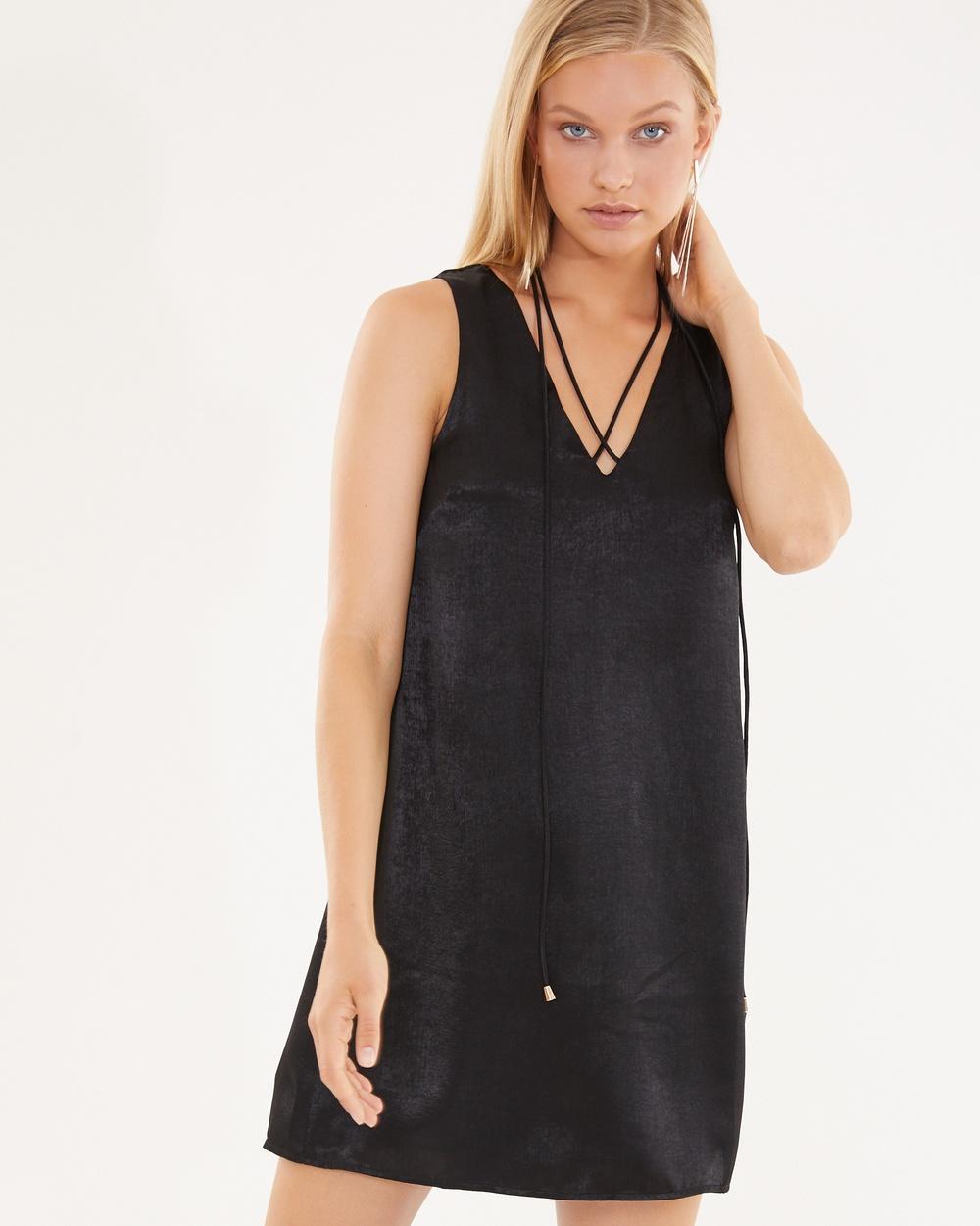 Photo of Tussah Black Kaiti Shift Dress - buy Tussah dresses on sale online