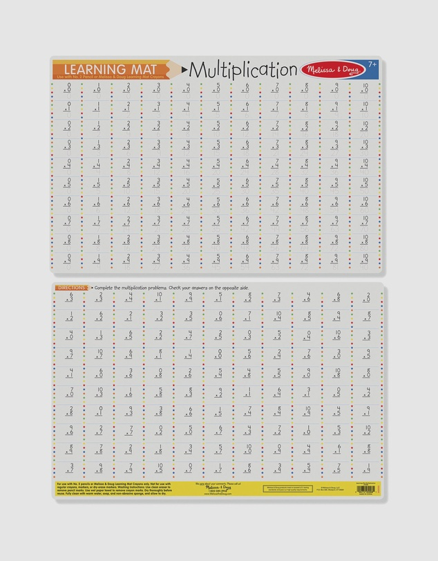 Melissa & Doug - Multiplication Write-A-Mat Bundle of 6