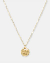 By Charlotte - Lotus Rising Gold Pendant Necklace