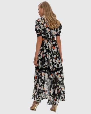 Aqua Blu Australia Arcadia Atlas Shirt Dress - Printed Dresses (Black)