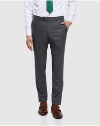 Oxford - Auden Wool Checked Suit Trousers