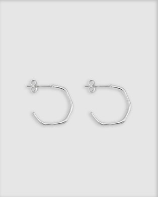 Ichu Faceted Mini Hoops - Jewellery (Silver)
