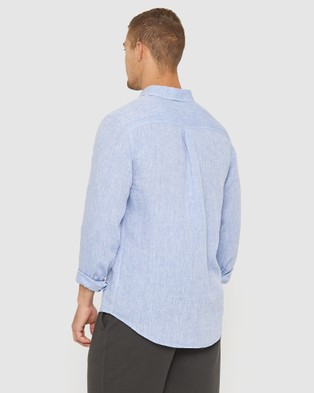 Jag The Chambray Linen Shirt - Casual shirts (Chambray)