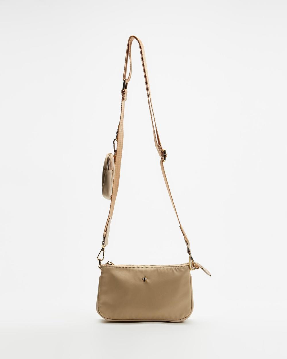 PETA AND JAIN Phoenix Crossbody Bag Handbags Beige Nylon