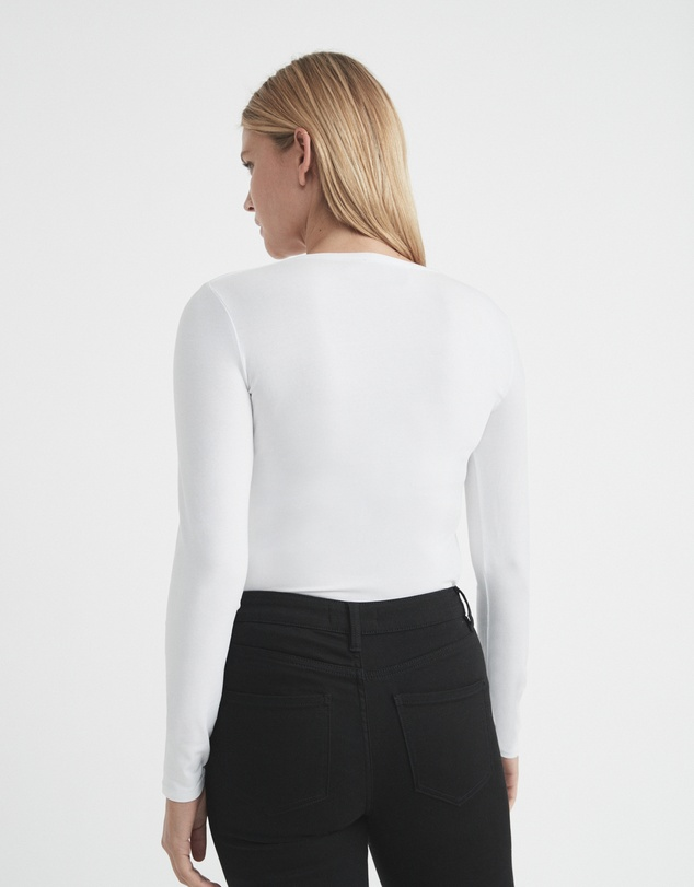 Women Cotton Long Sleeve Scoop Top